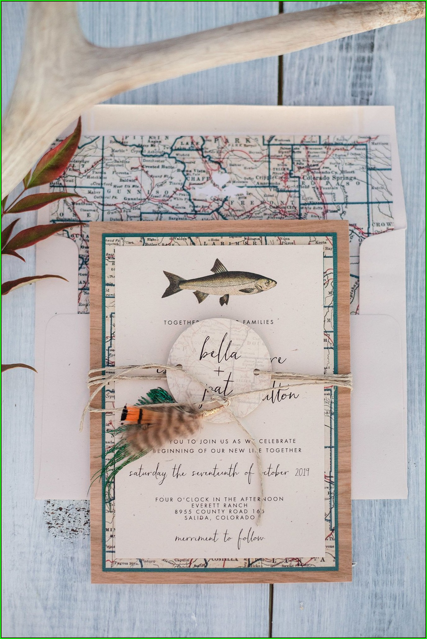 Fly Fishing Wedding Invitations