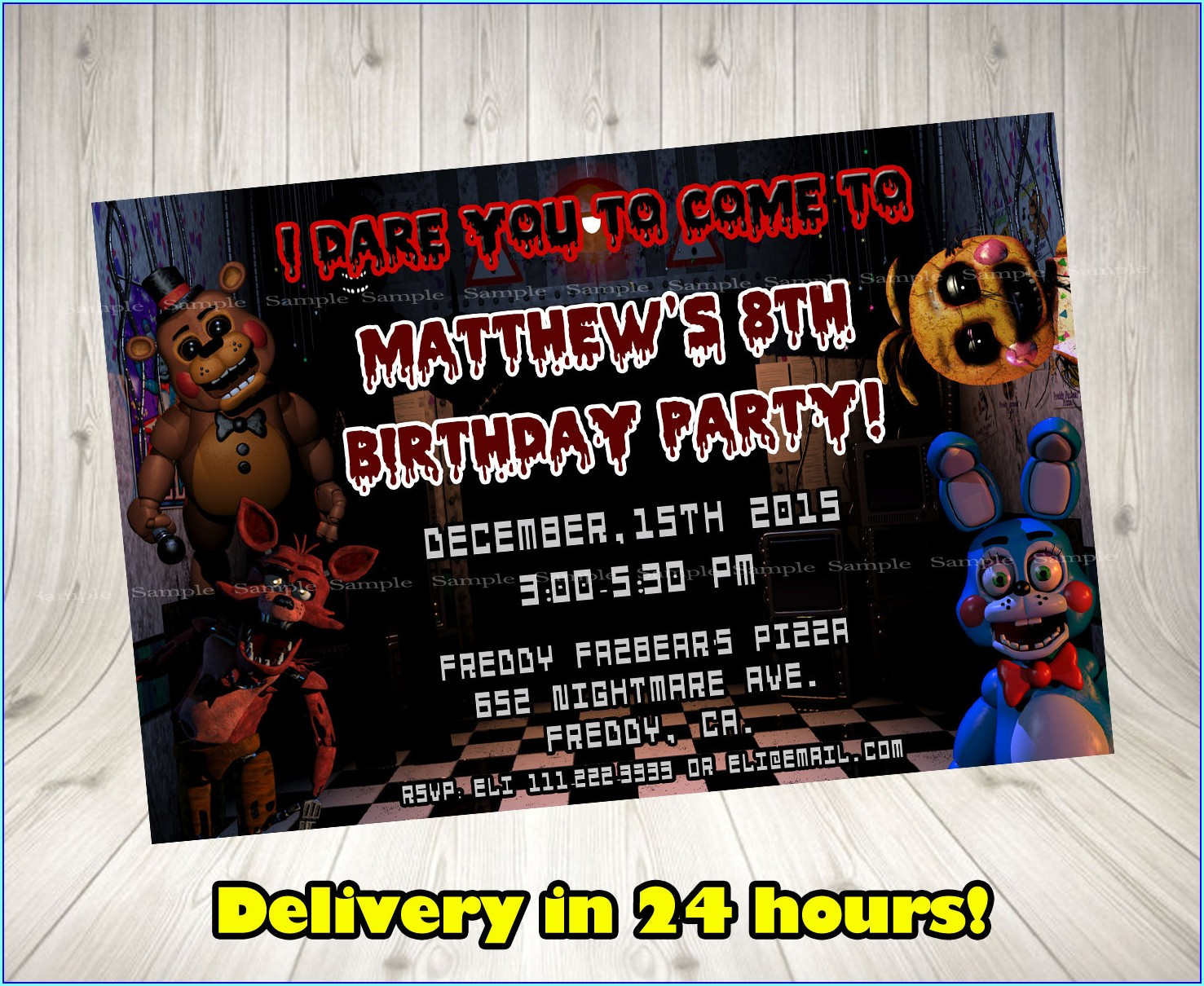 Fnaf Birthday Invitations Printable