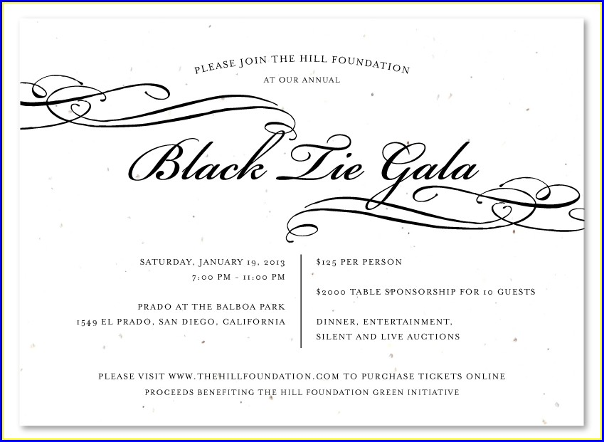 Formal Gala Invitation Wording