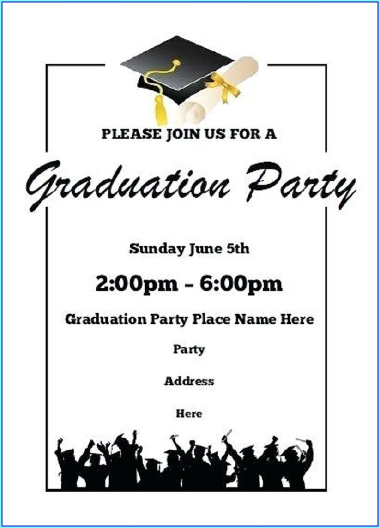Free 4x6 Graduation Invitation Templates