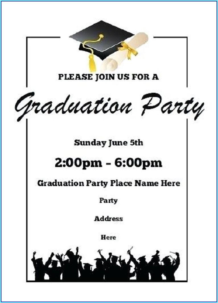 Free 4x6 Graduation Invitation Templates