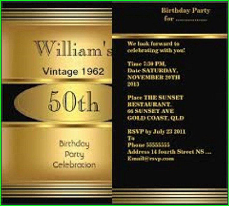 Free 50th Birthday Invitation Templates