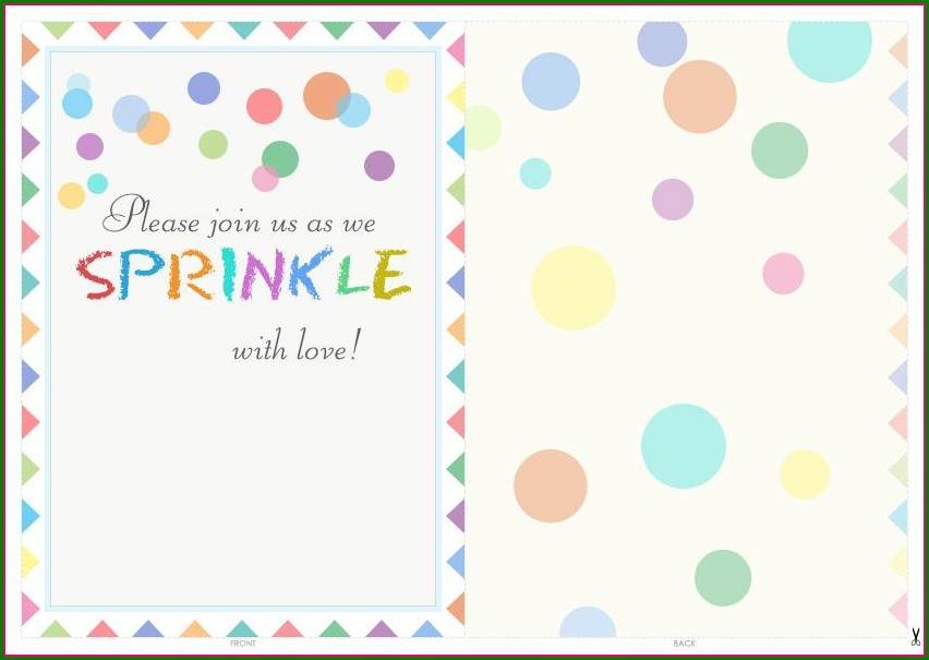Free Baby Sprinkle Invitations Online