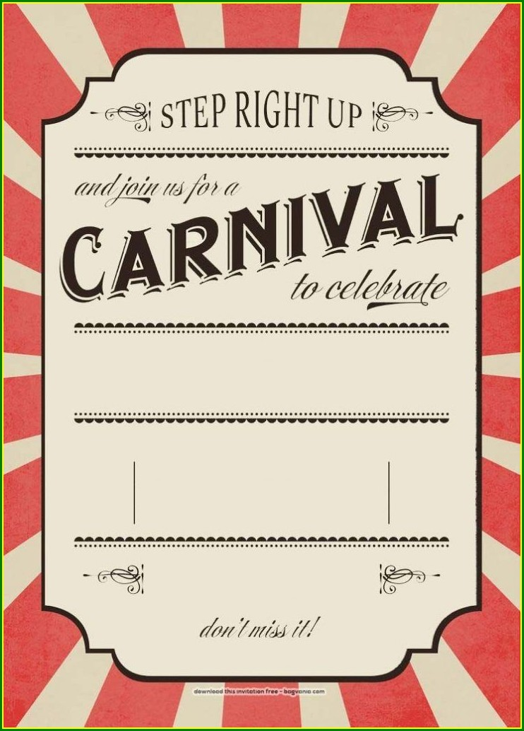 Free Carnival Invitation Template