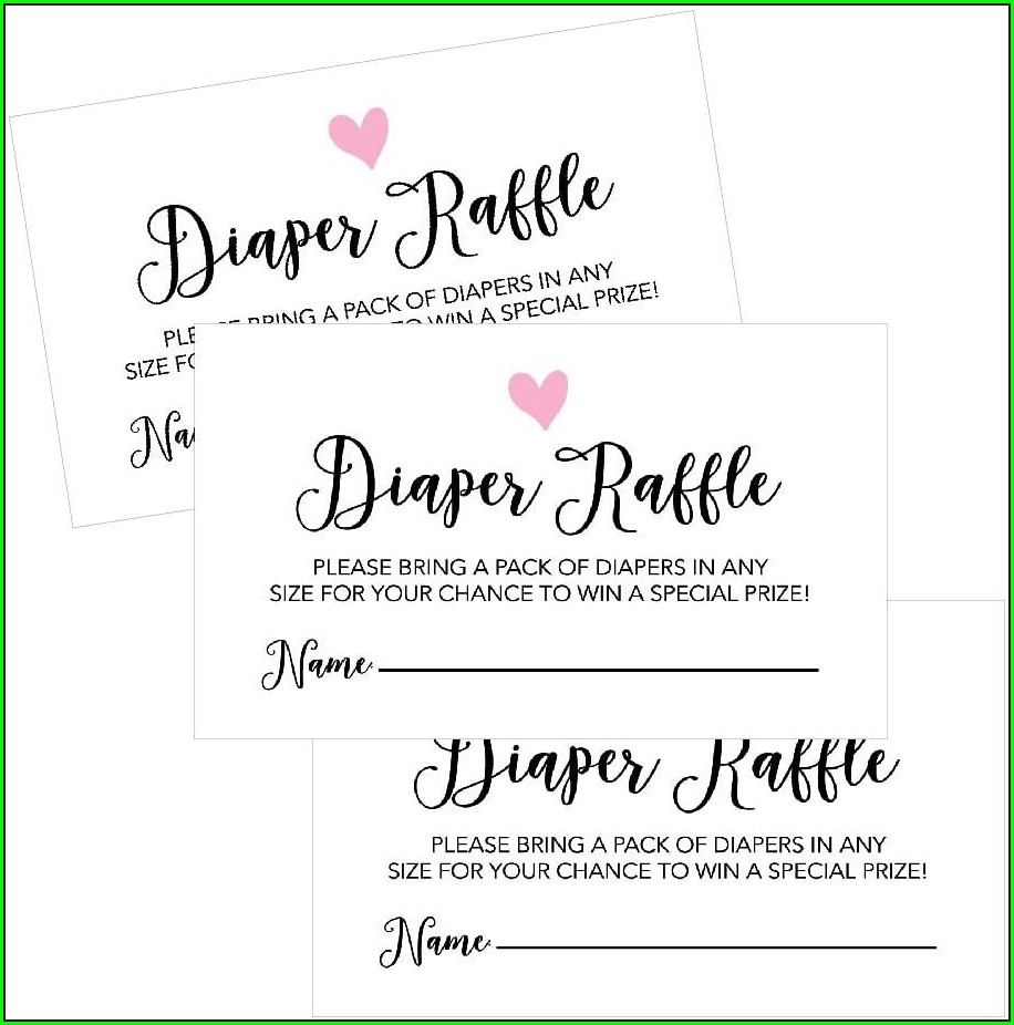 Free Diaper Raffle Inserts For Invitations