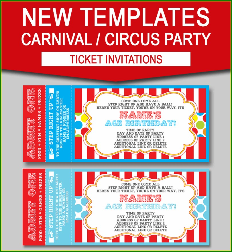 Free Editable Carnival Invitation