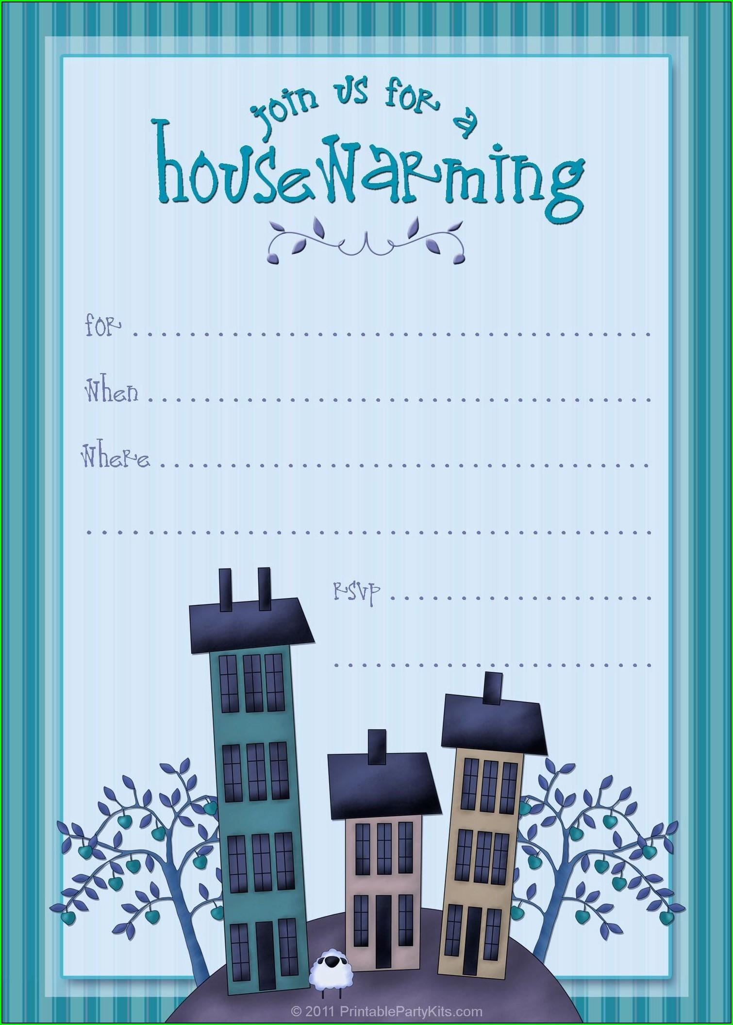Free Editable Housewarming Invitations