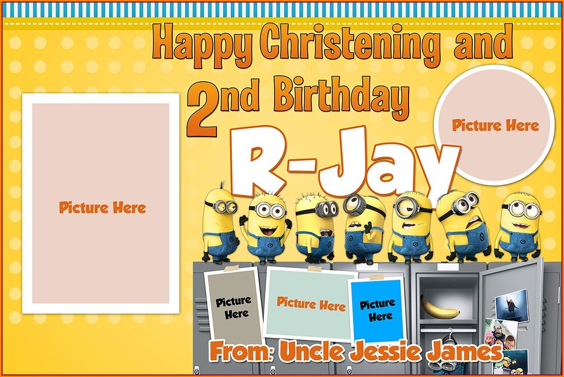 Free Editable Minion Birthday Invitations