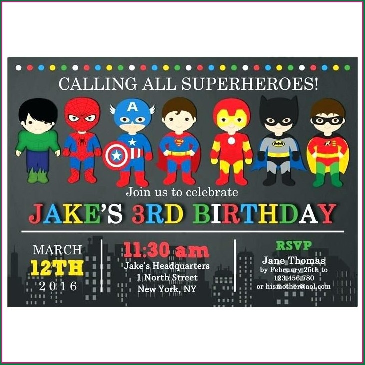 Free Editable Superhero Invitations