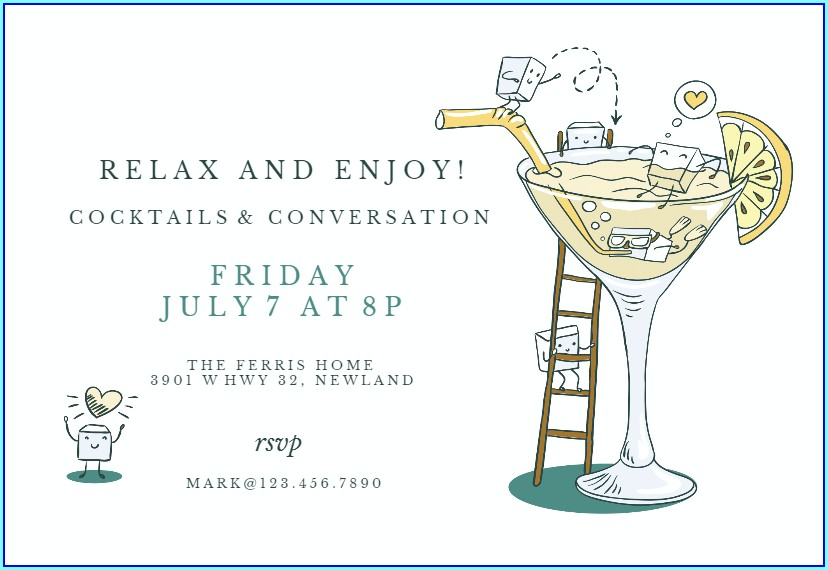 Free Happy Hour Invitation Template