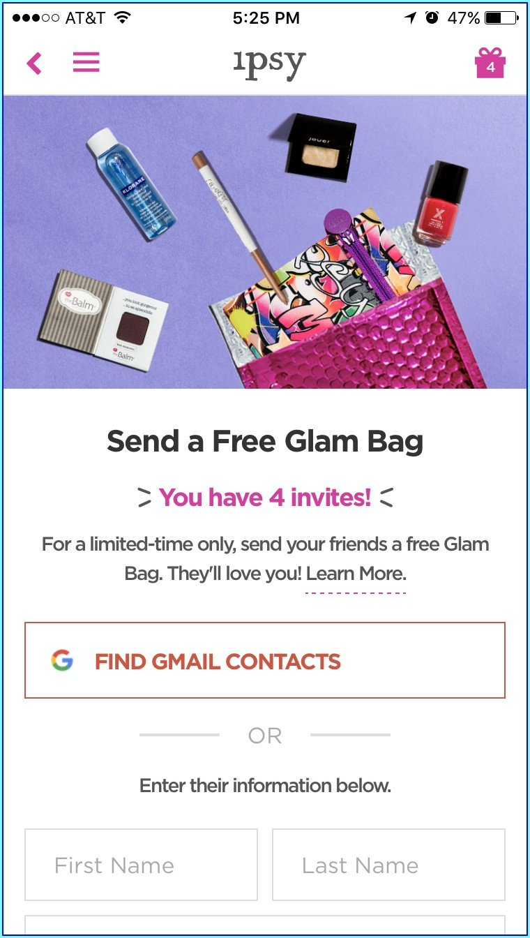 Free Ipsy Bag Invite 2019