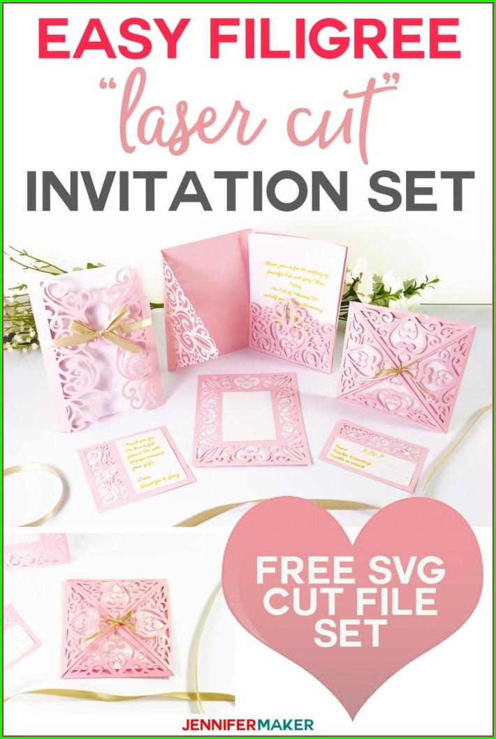 Free Laser Cut Wedding Invitation Svg