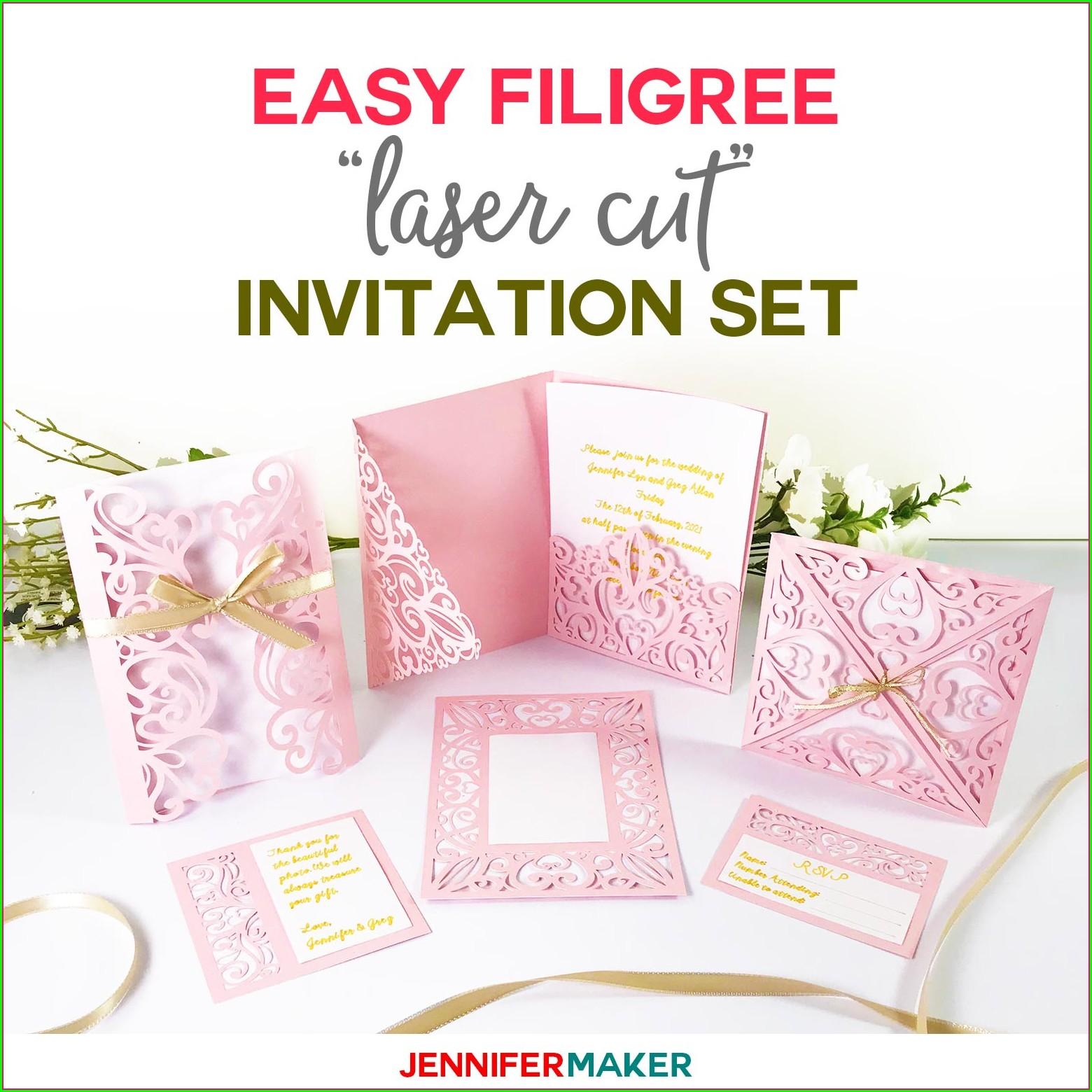 Free Laser Cut Wedding Invitation