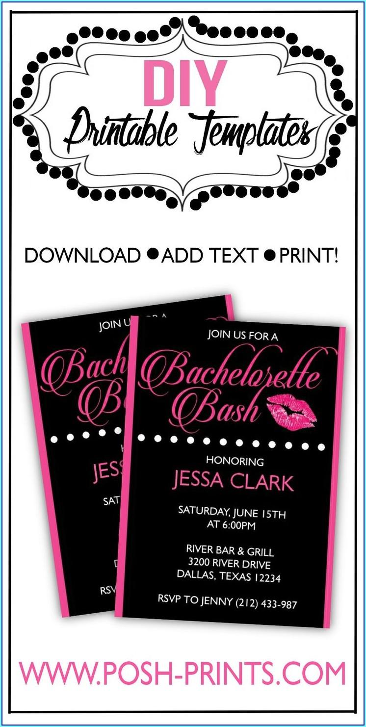 Free Online Bachelorette Invitations
