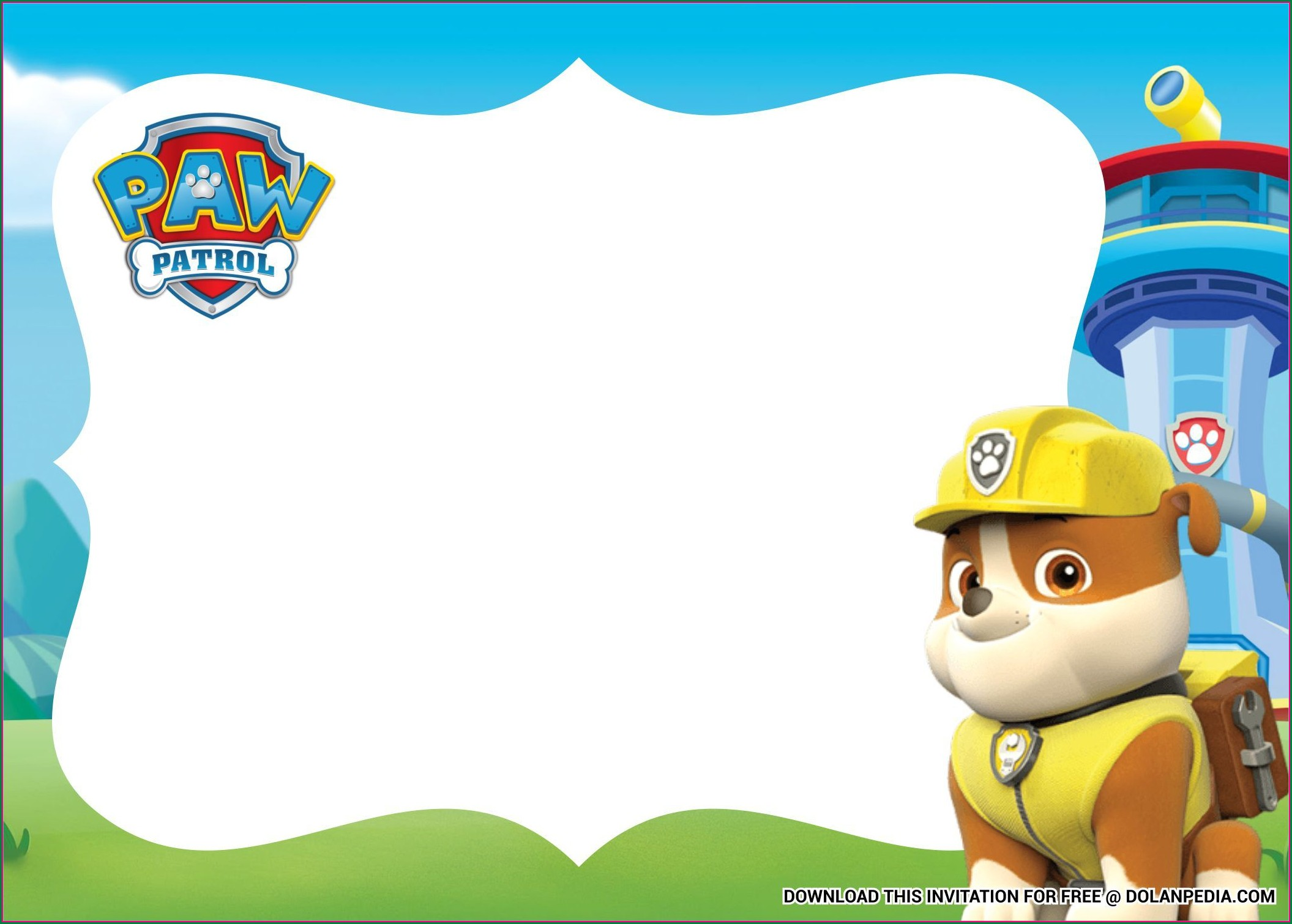 Free Paw Patrol Invitation Template Download