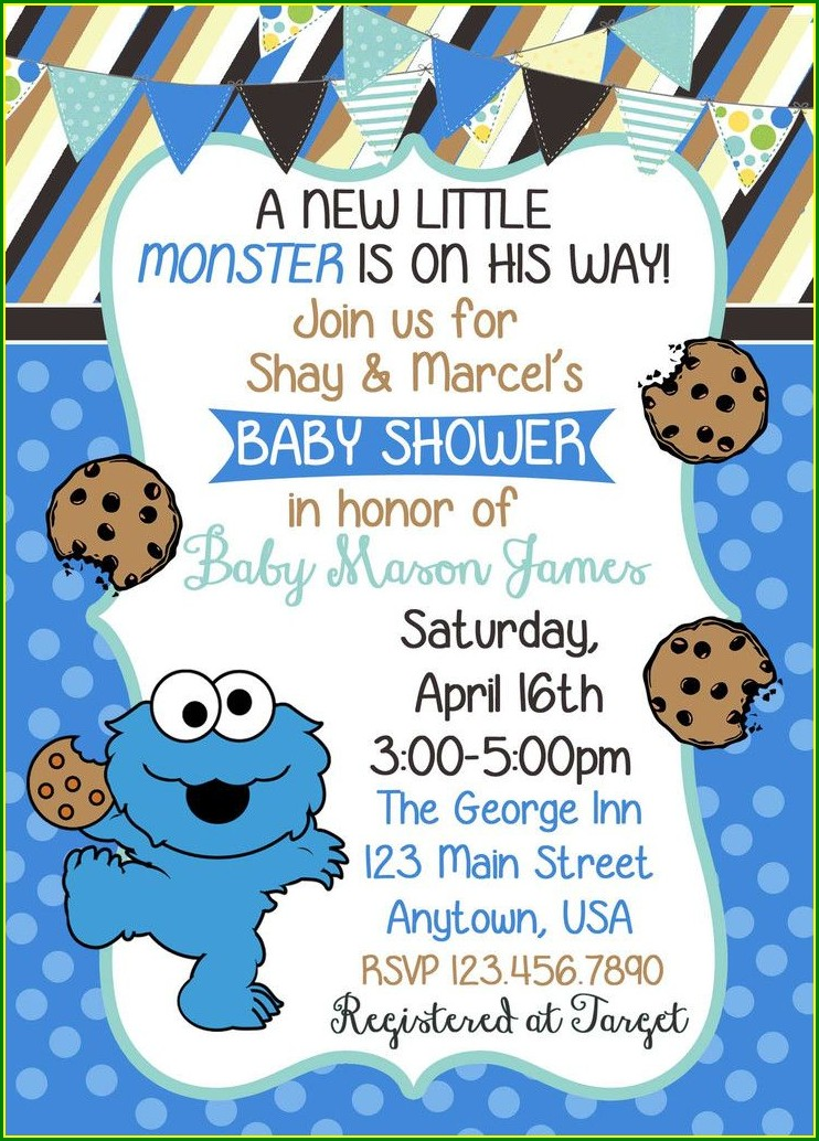 Free Personalized Cookie Monster Invitations