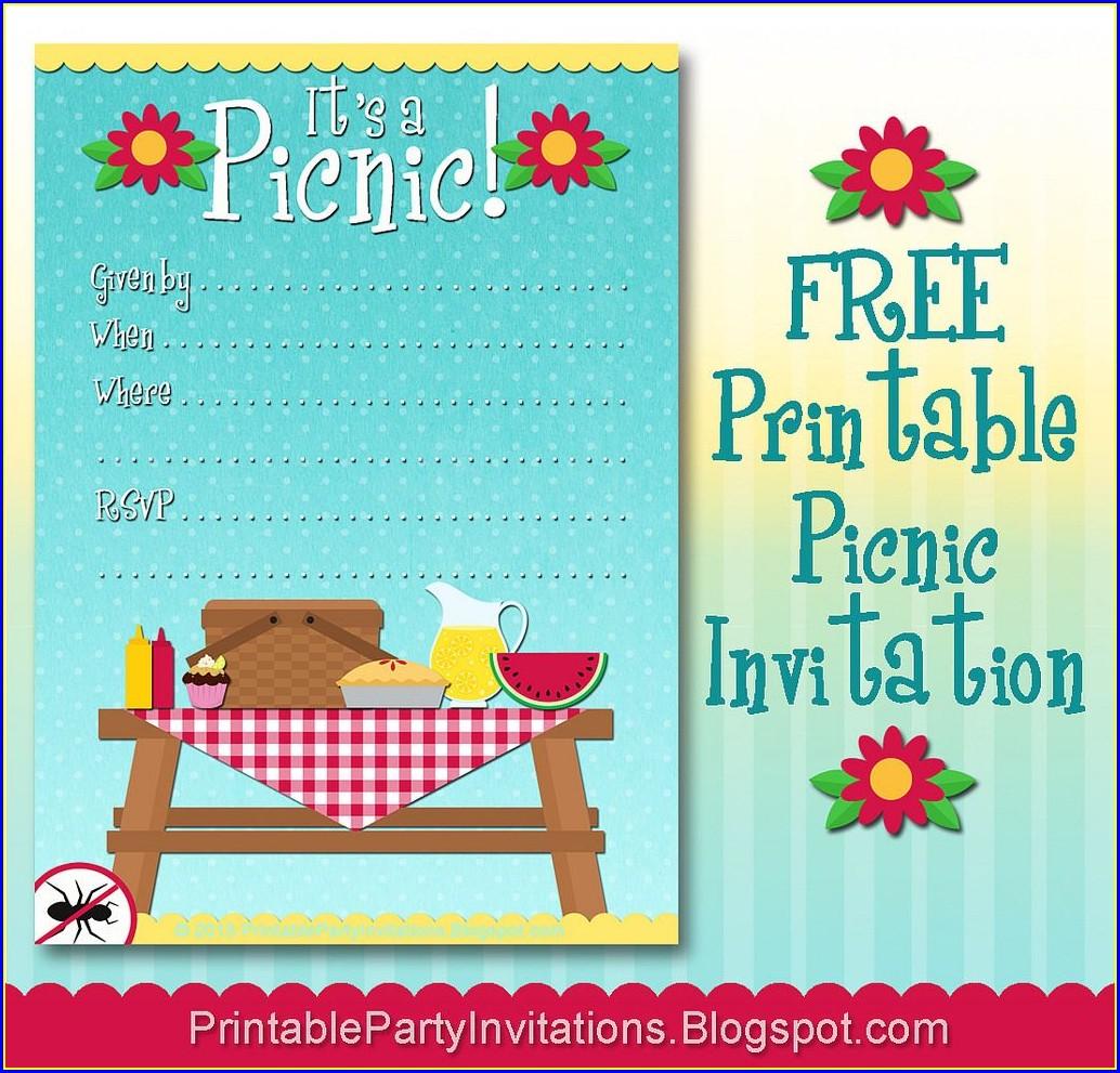 Free Picnic Invitation Template