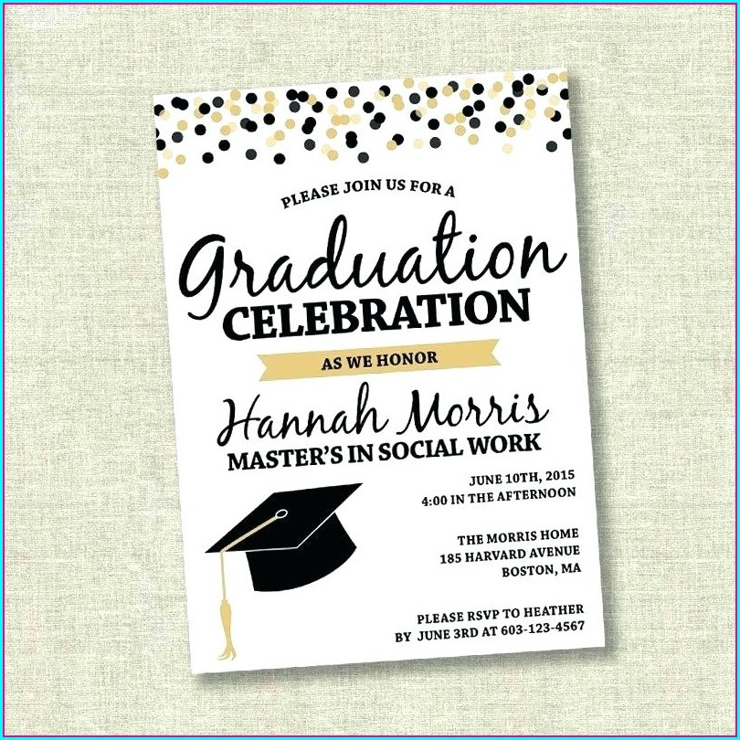 Free Preschool Graduation Invitation Templates For Word