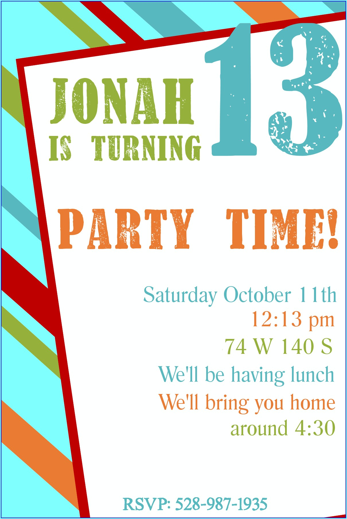 Free Printable 9th Birthday Invitation Templates