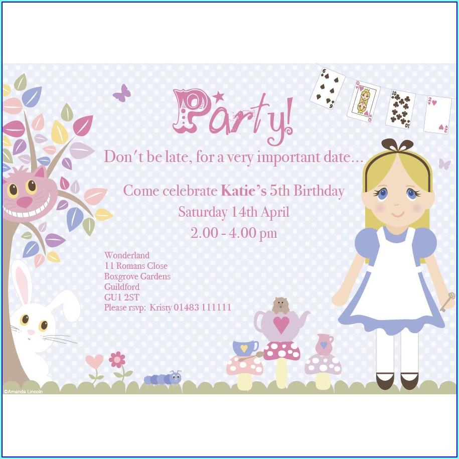 Free Printable Alice In Wonderland Invitations