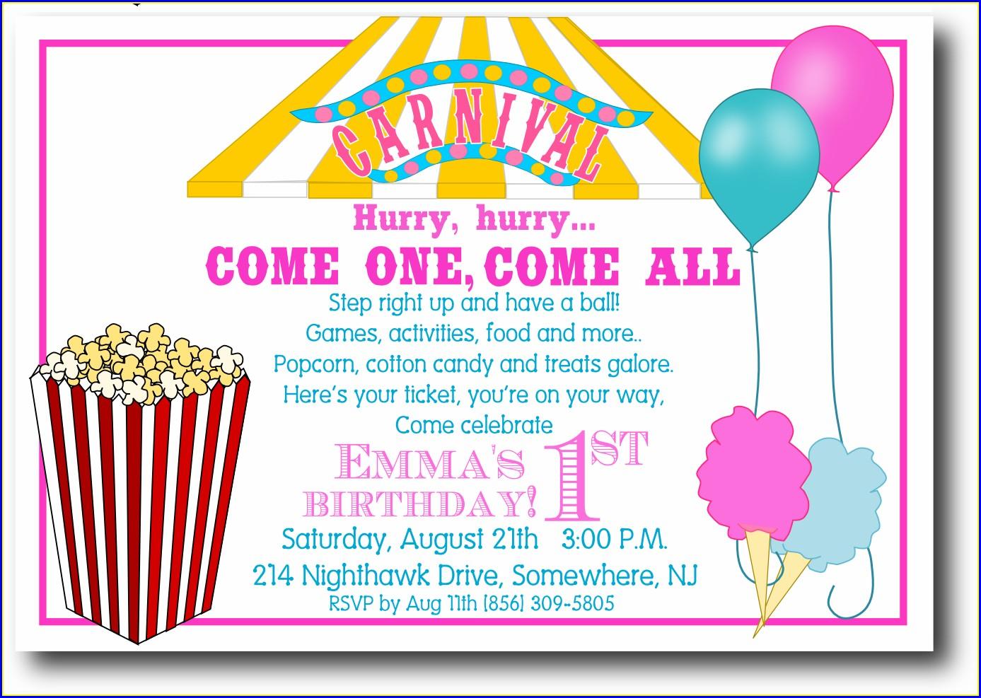 Free Printable Carnival Invitation Template