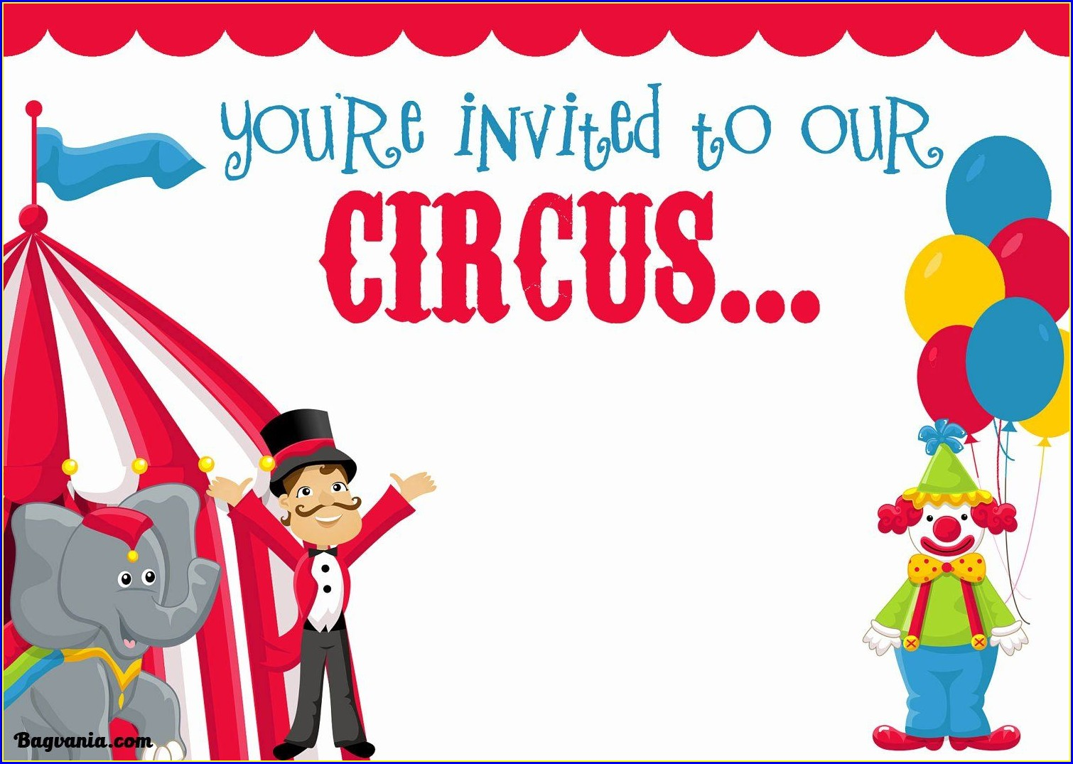 Free Printable Circus Invitation Template