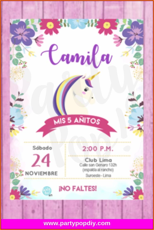 Free Printable Editable Unicorn Invitation