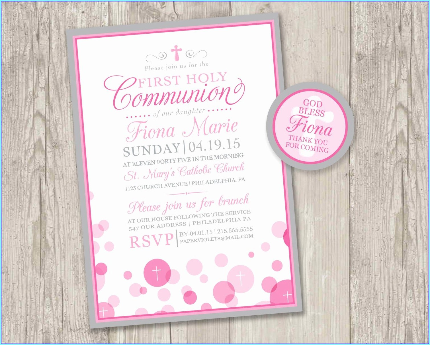 Free Printable First Communion Invitations