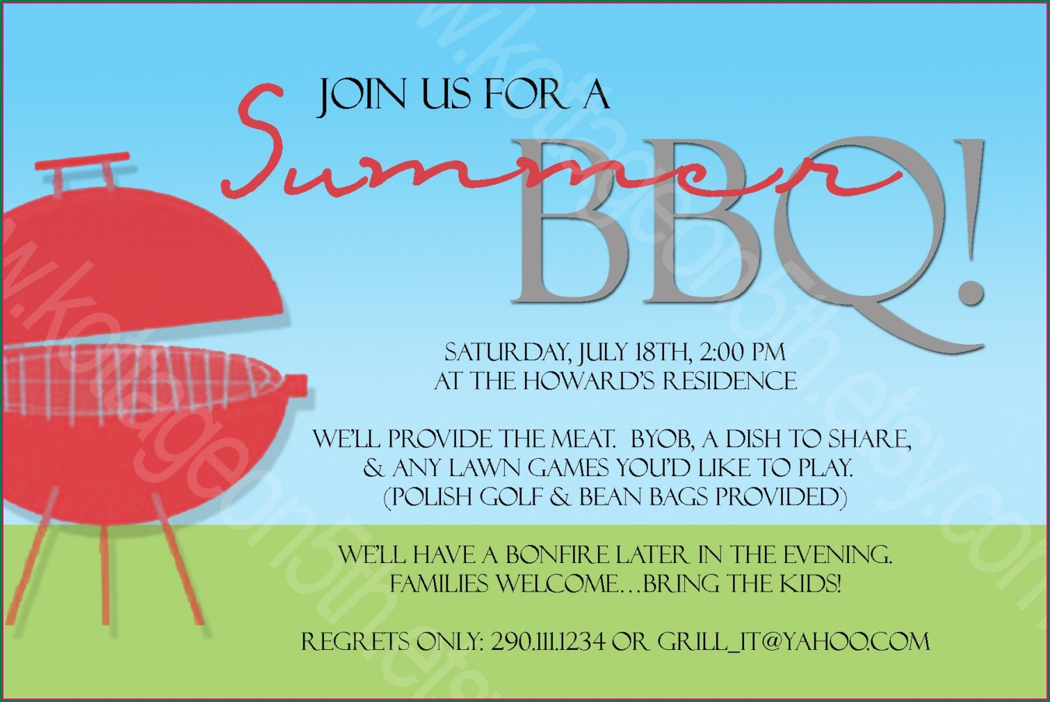 Free Printable Free Bbq Invitation Template Word