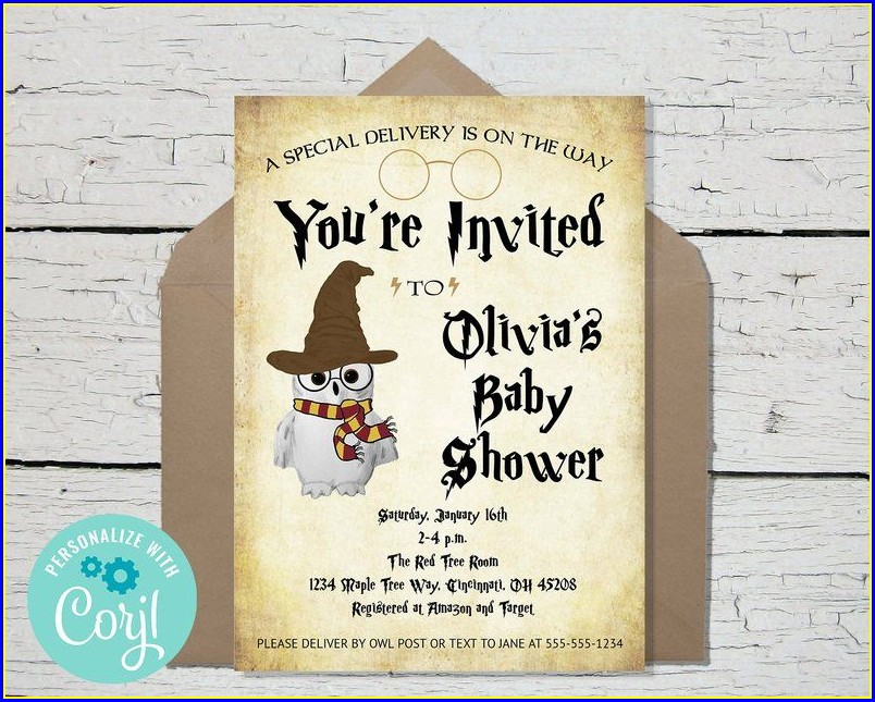 Free Printable Harry Potter Baby Shower Invitations