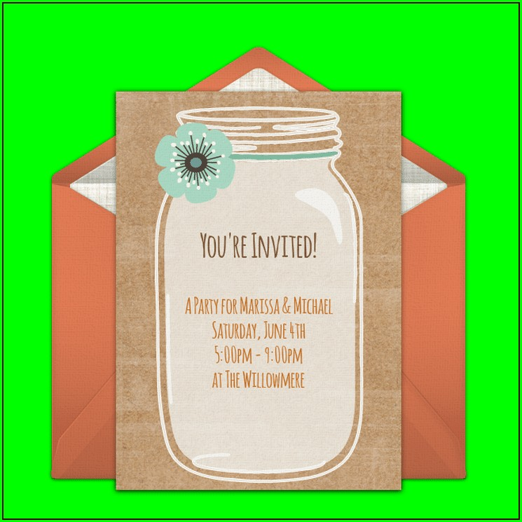 Free Printable Mason Jar Invitations