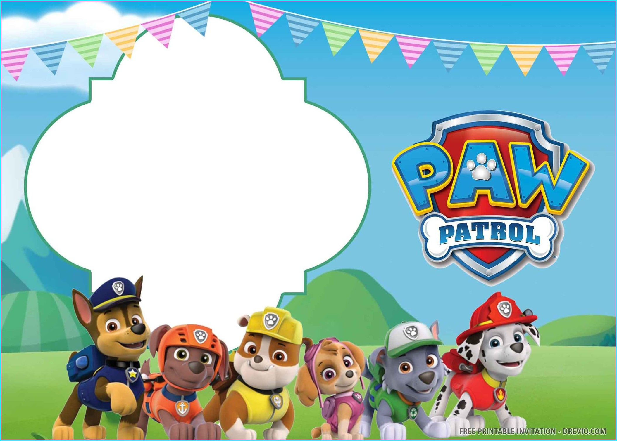 Free Printable Paw Patrol Birthday Invitations