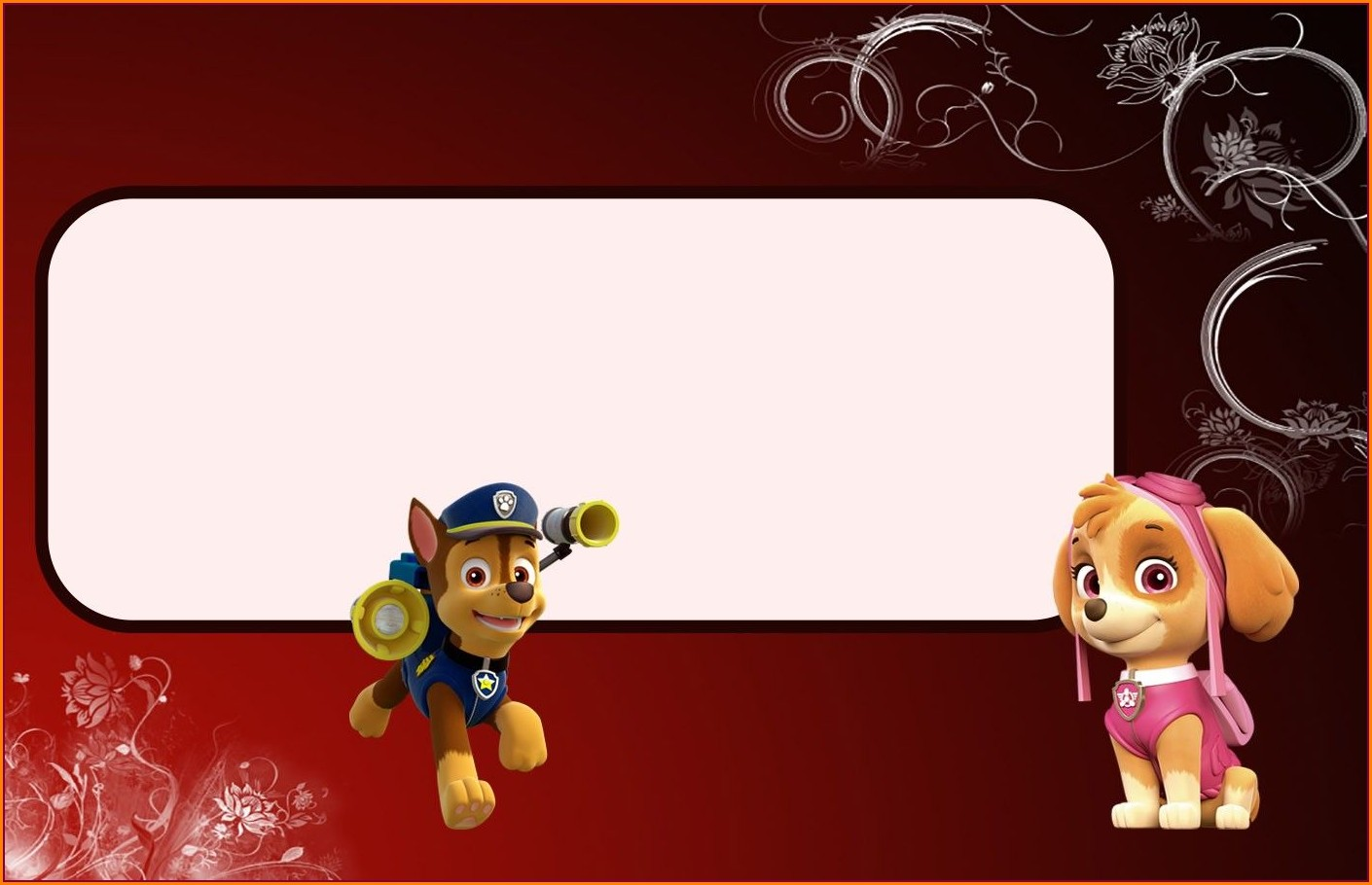Free Printable Paw Patrol Invitations