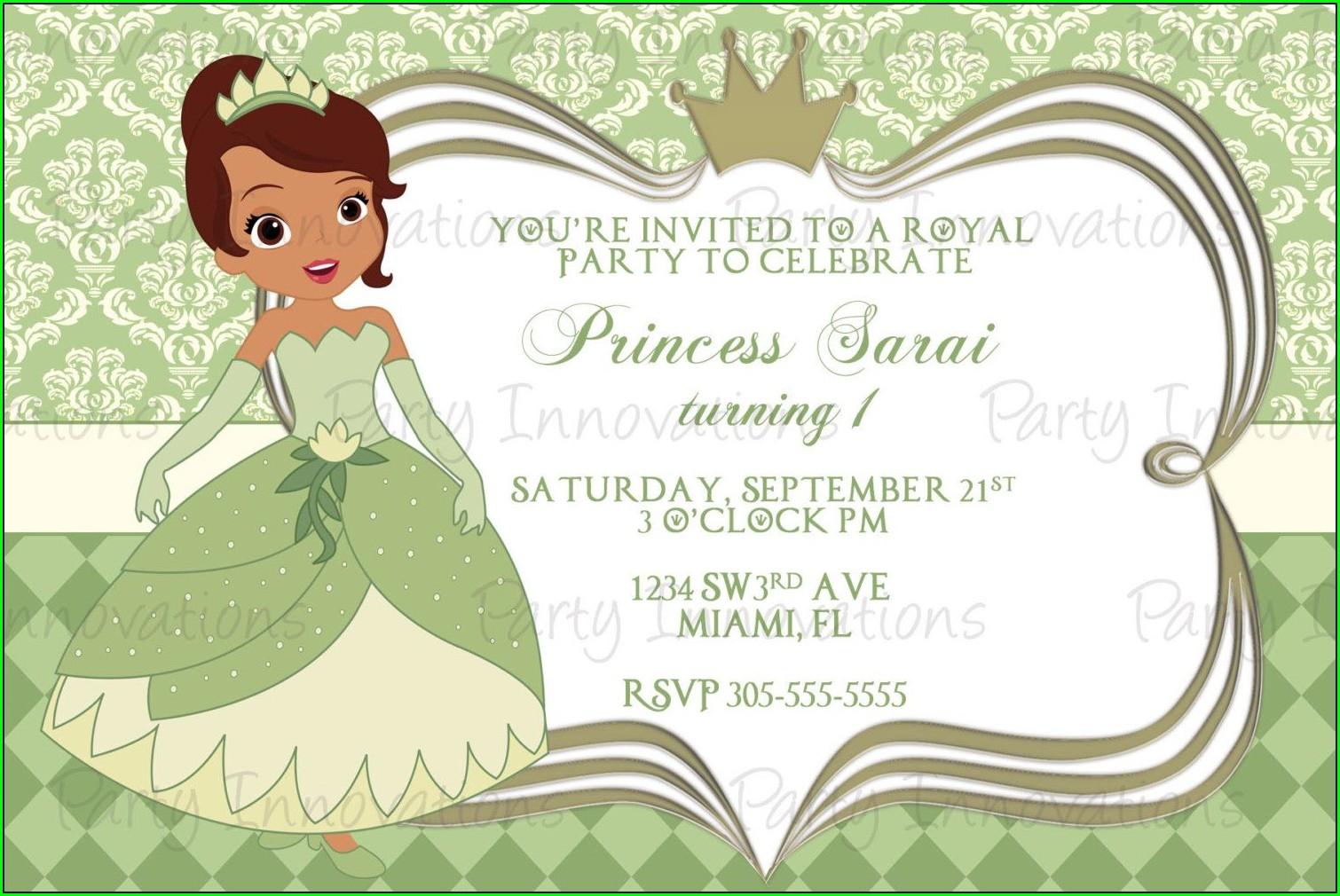 Free Printable Personalized Disney Princess Birthday Invitations