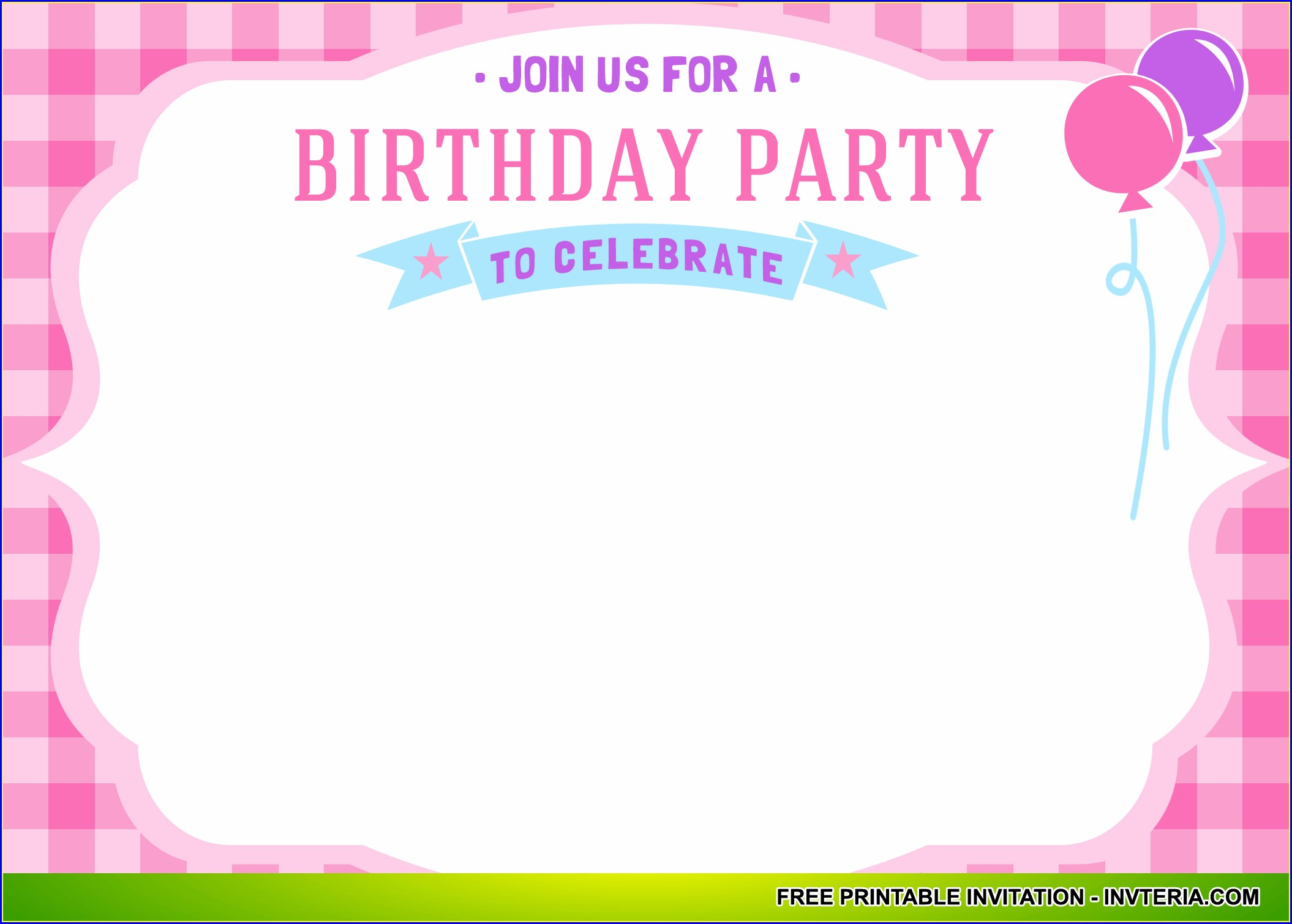 Free Printable Printable Birthday Invitations Girl