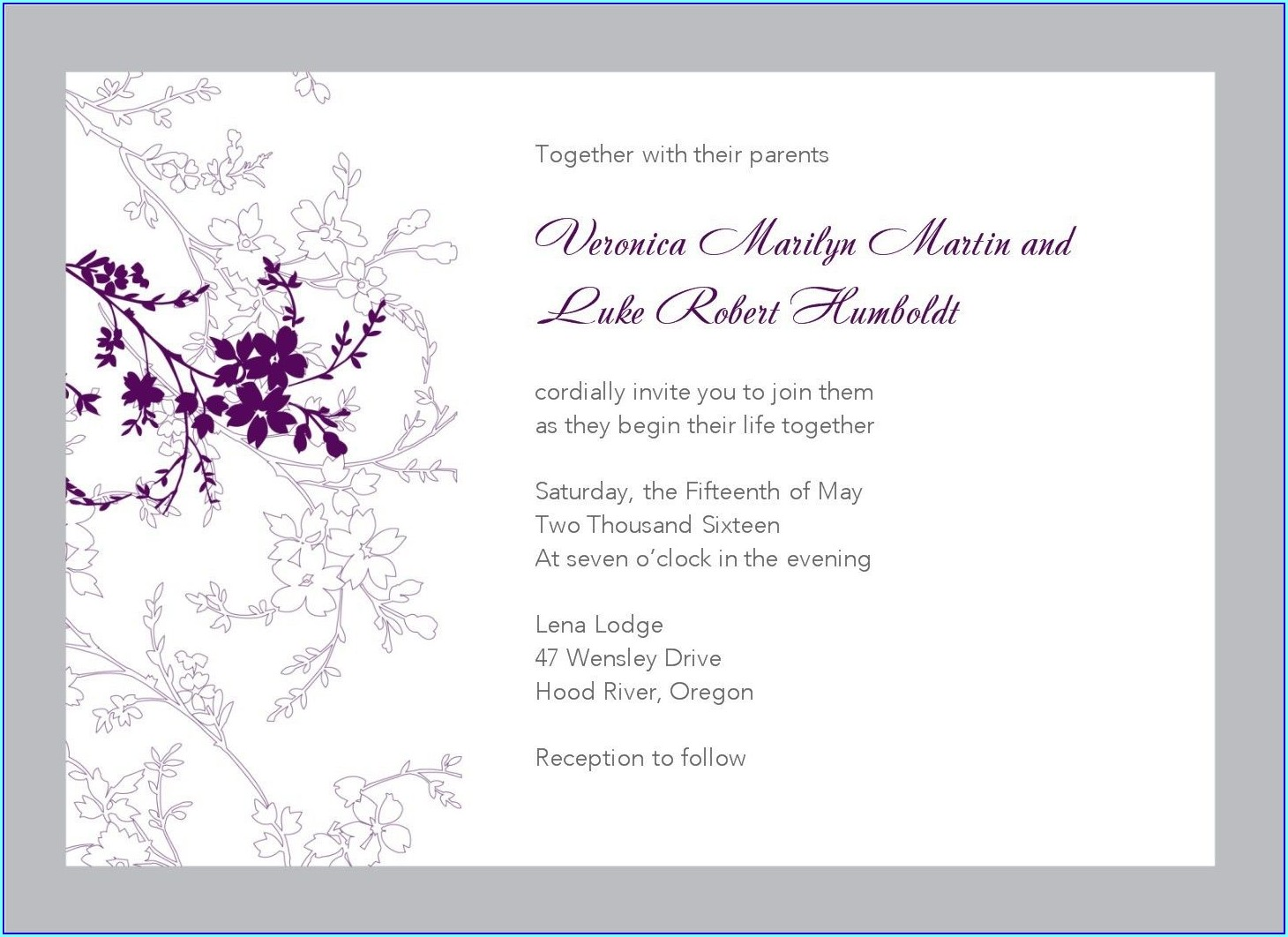 Free Reception Invitation Templates For Word