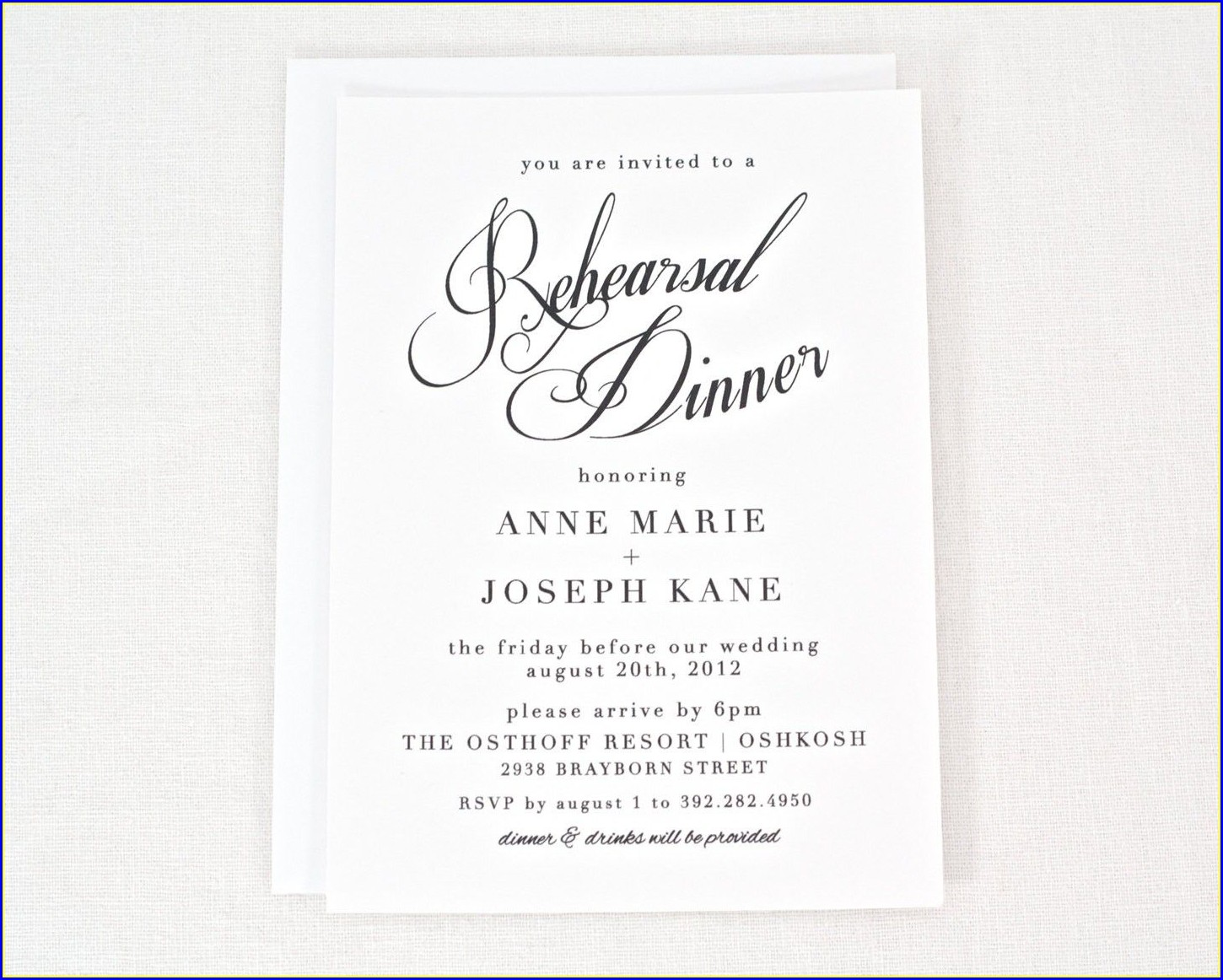 Free Rehearsal Dinner Invitations
