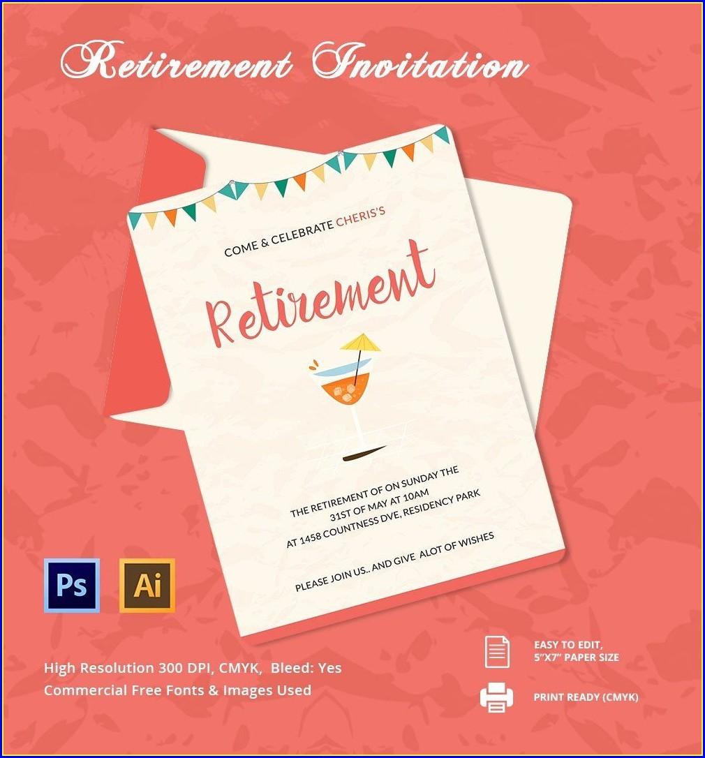 Free Retirement Invitations Templates