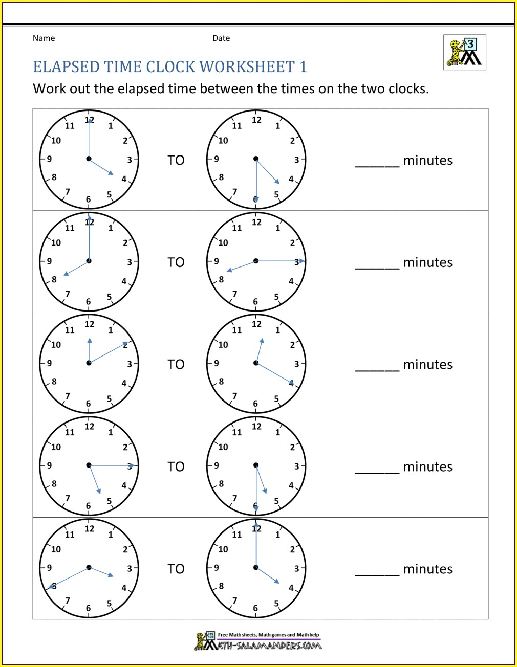 Free Worksheet Timeclock