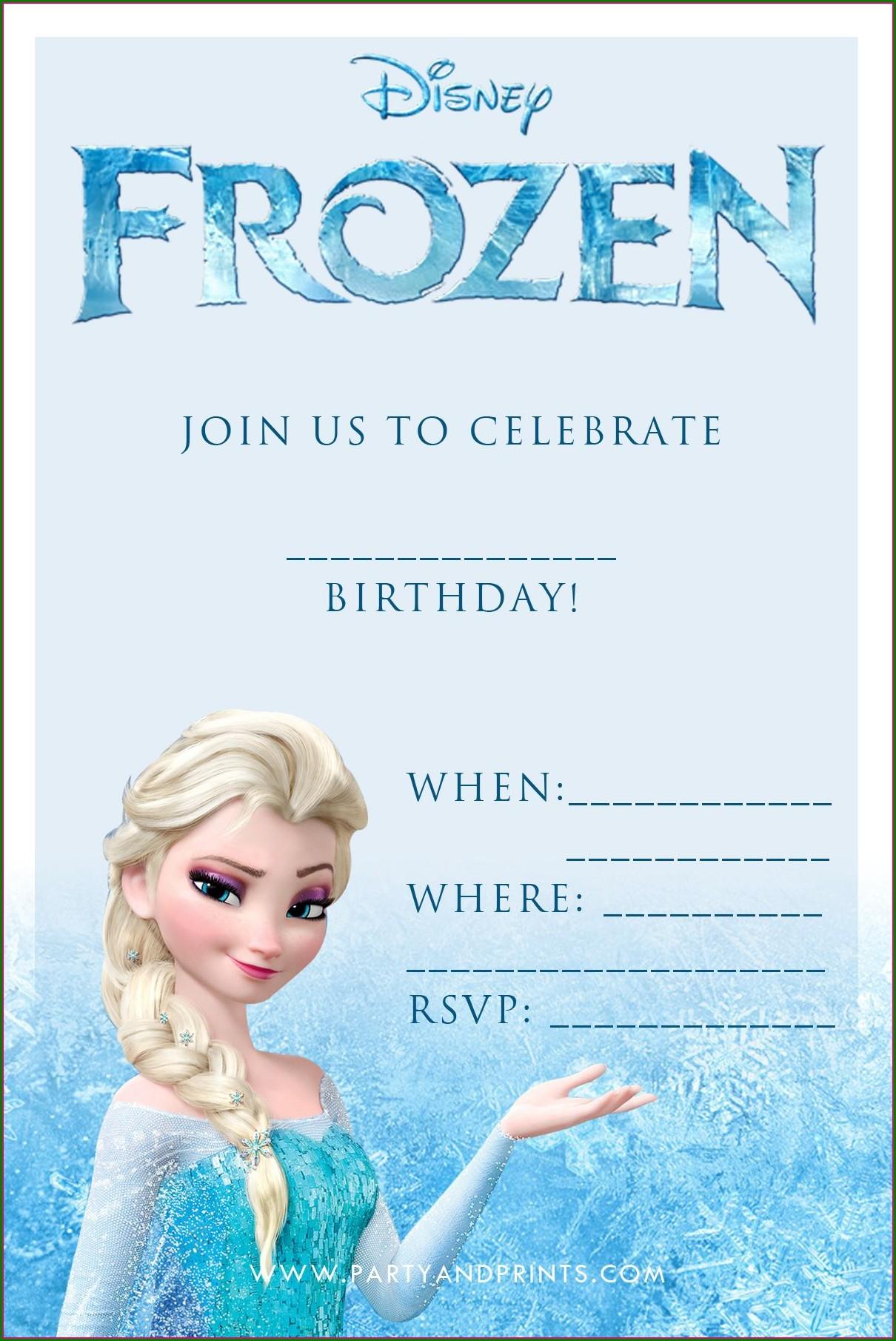 Frozen 7th Birthday Invitation Template