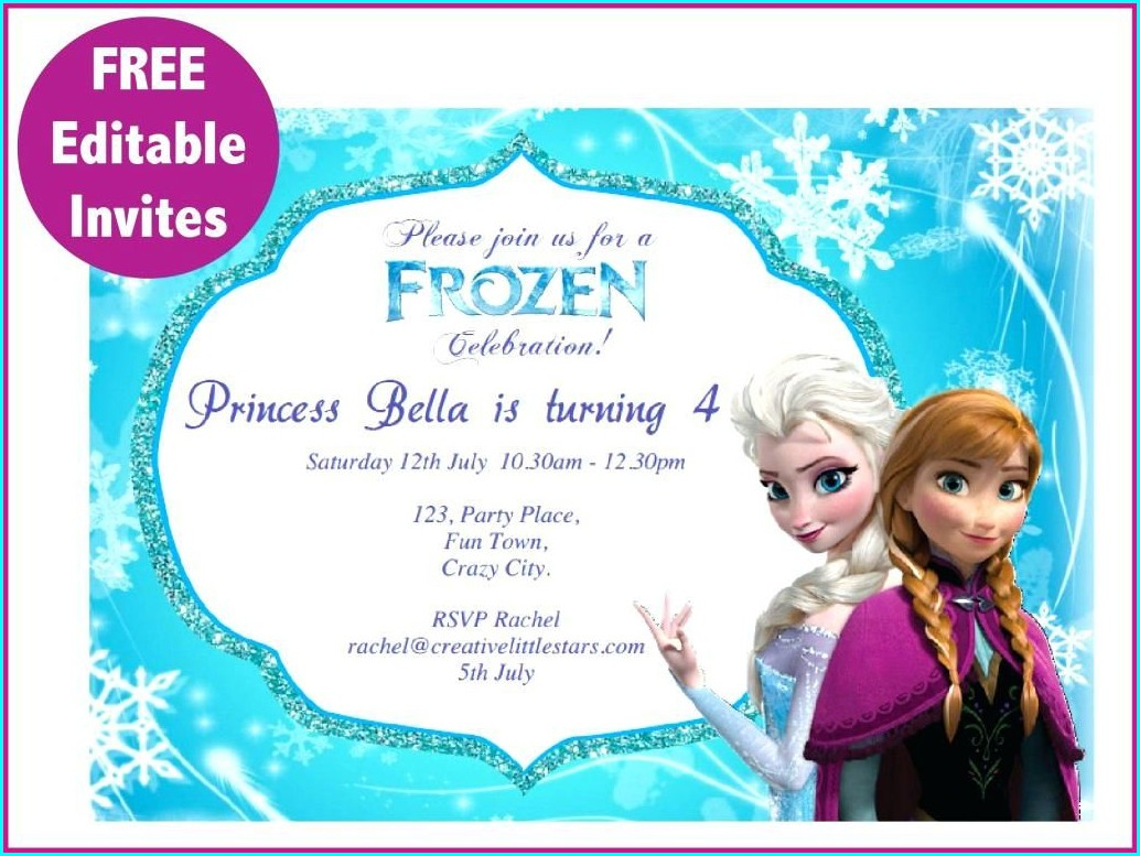 Frozen Birthday Invitations Template Download