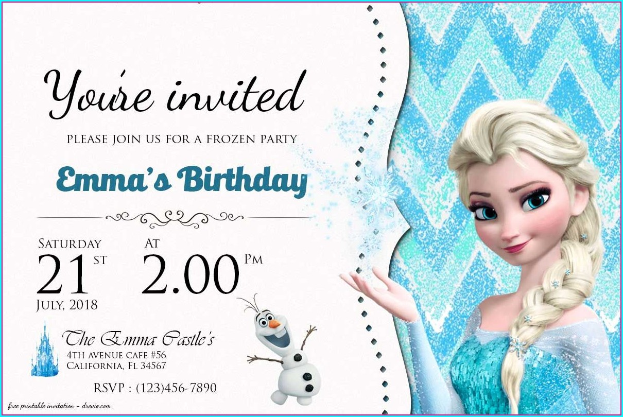 Frozen Birthday Invitations Templates Free