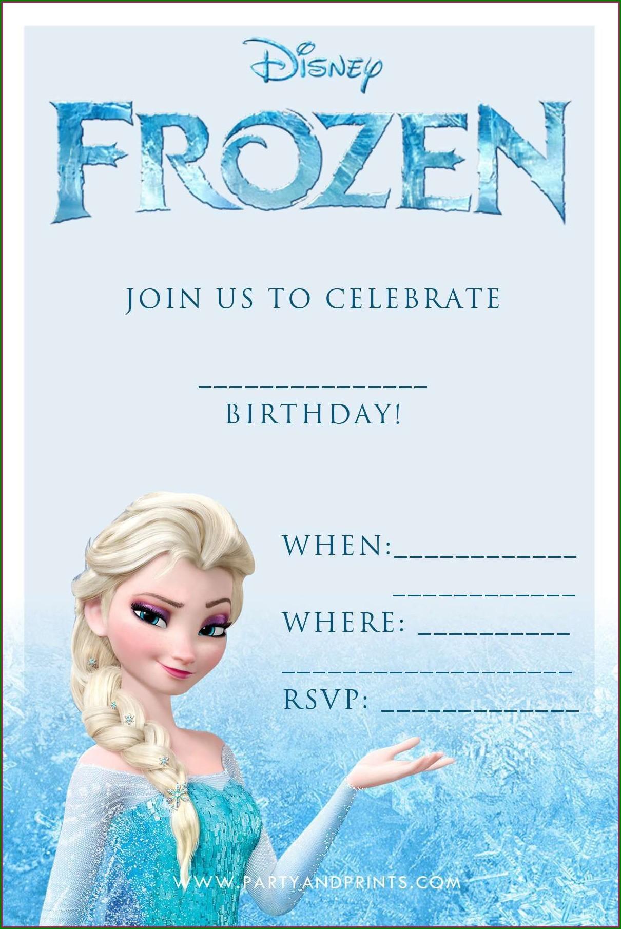 Frozen Invitations Online Free
