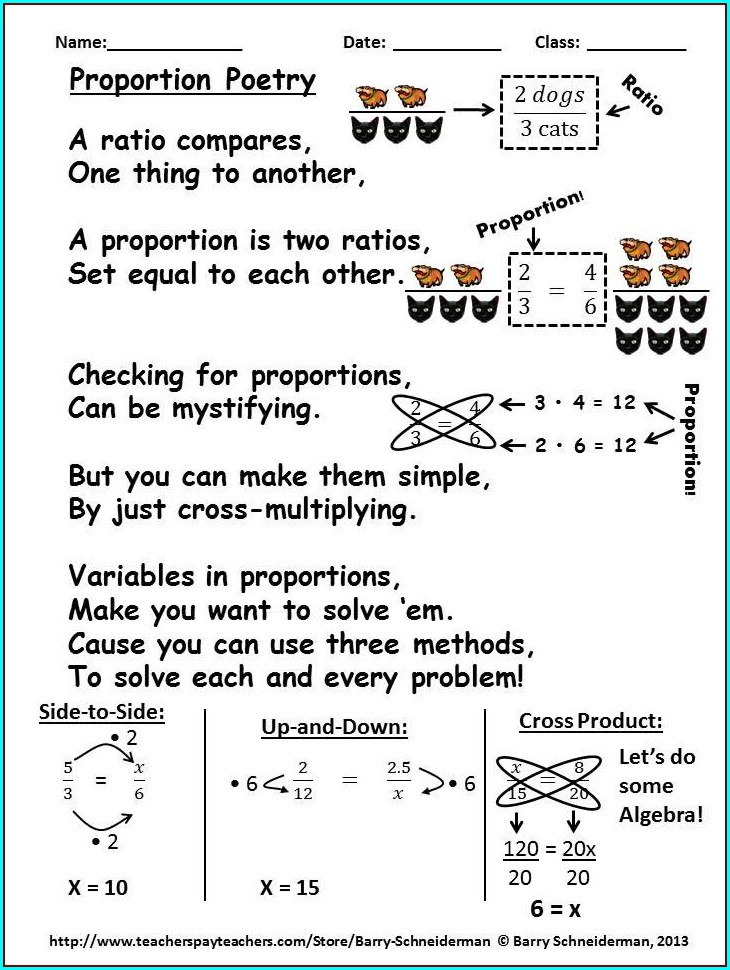 Fun Math Worksheets Proportions