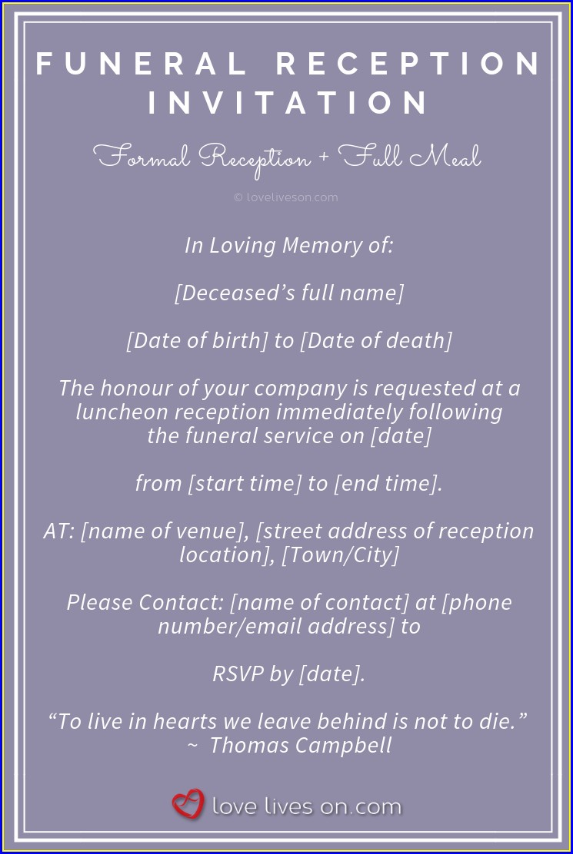 Funeral Invitation Wording Uk
