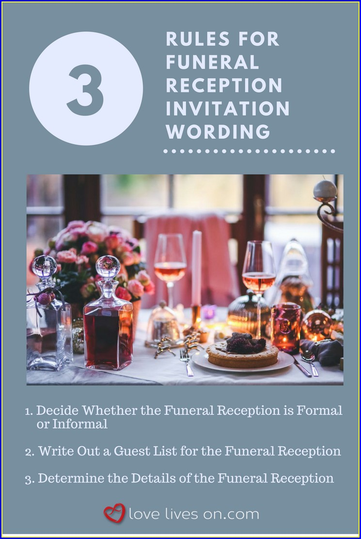 Funeral Reception Invitation Wording