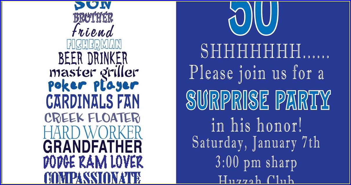 Funny 50th Birthday Invitation Wording Ideas