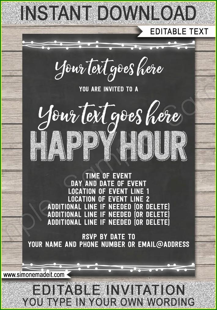 Funny Happy Hour Invitation Wording