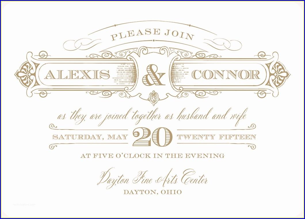 Gartner Studios Wedding Invitations Template