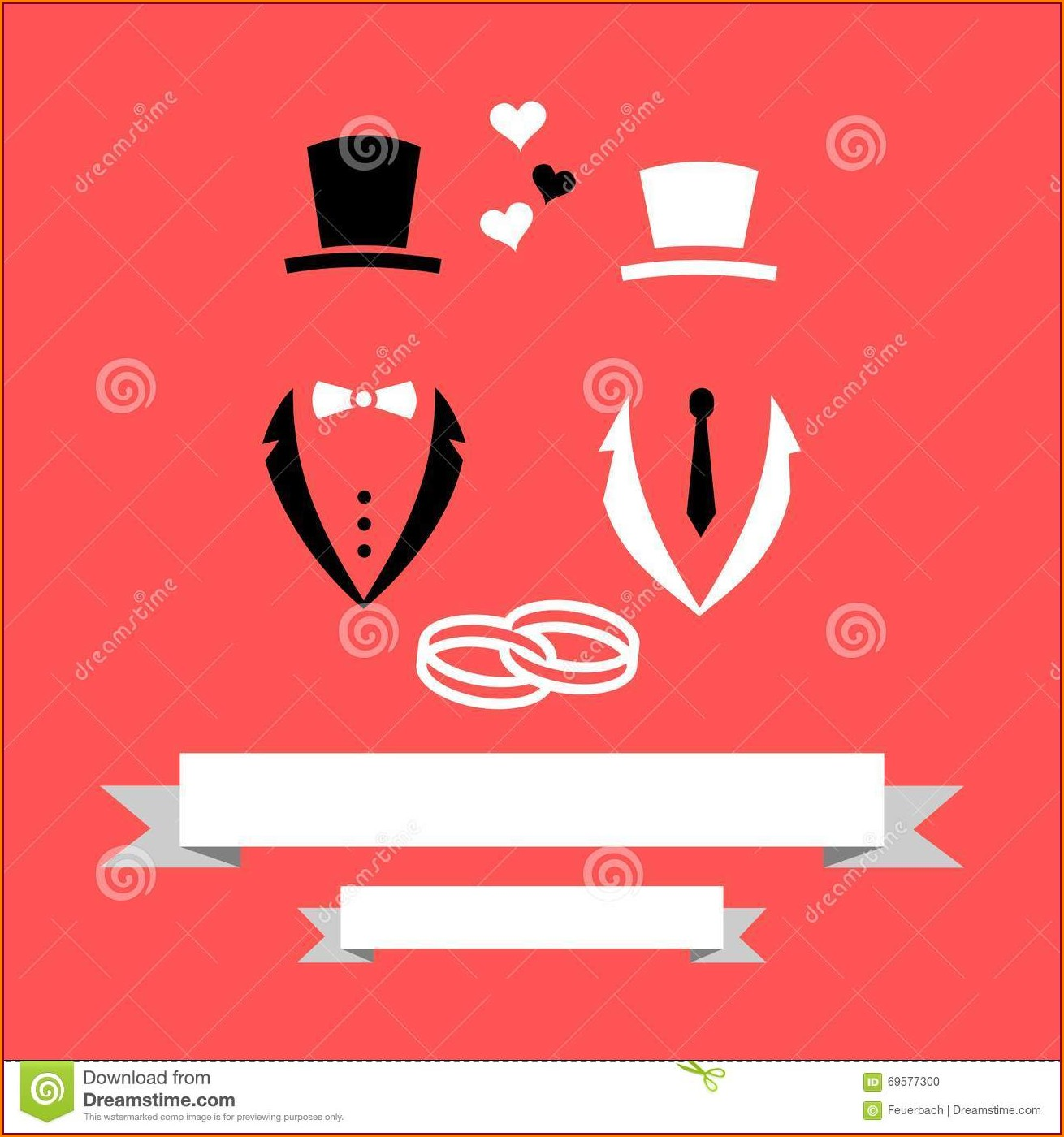Gay Wedding Invitation Card